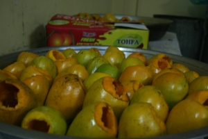 mangoes waiting to be stuffed