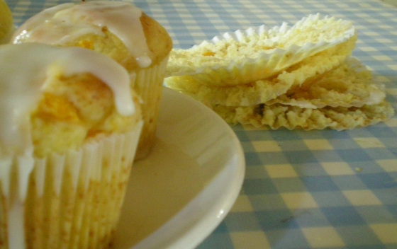 Peach, Lemon and Vanilla Muffins