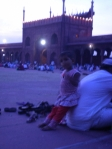 blurry little girl at jama masjid