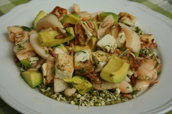 Phut, Avocado and Sprouted Bean Salad