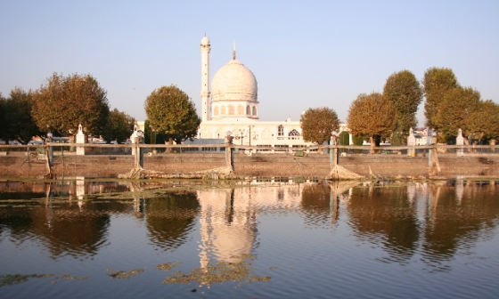 Morning Mosque on Dal Lake