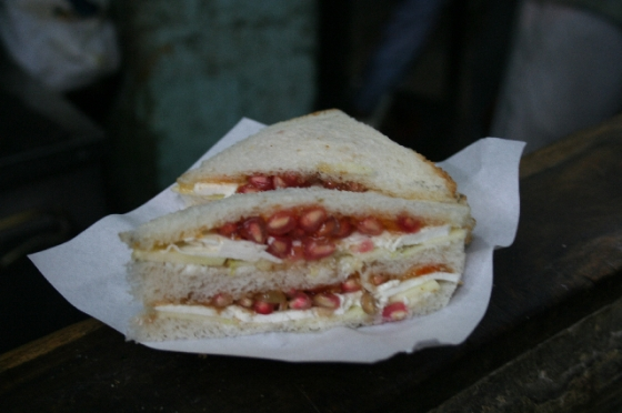 Fruit Sandwiches at Jain Coffee House